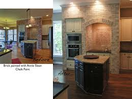 Annie Sloan Chalk Paint On Kitchen Cabinets Painting Kitchen Cabinets And Brick Lighten Up A Kitchen
