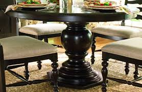 paula deen home round pedestal table in tobacco code univ30 for 30