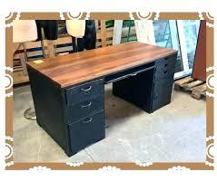 bureau industriel metal bois bureau mactal et bois bureau design bois bureau design bois bureau