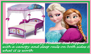 Frozen Canopy Bed Disney Frozen Canopy Toddler Bed Topped With A Canopy And Sleep