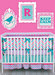 Pink And Aqua Crib Bedding Babies Baby Bedding Boutique