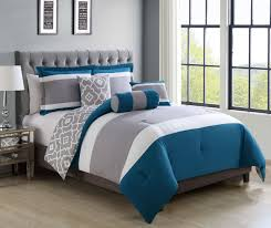 Gray And Teal Bedroom by Bedroom Grey Flara Comforter Set By Kinglinen For Cozy Bedroom