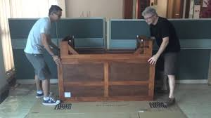 Cabinet Bed Vancouver Murphy Cabinet Bed Unpacking And Assembly Youtube