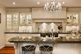 country french kitchen double door glass kitchen cabinets pictures