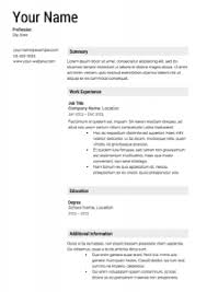 A Template For A Resume Bright Design Template For A Resume 6 Free Templates Cv Resume Ideas