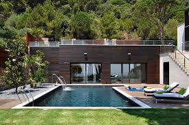 luxury house with mountain view also small pool idea and chaise