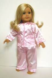 18 doll pink satin pajamas the doll boutique