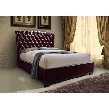 Wine Color Bedroom by Crown Mark Kaitlyn Wine Upholstered Queen Headboard And Footboard