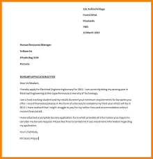 scholarship application letter sample scholarship application