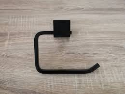 black toilet luxe square matte black l shaped toilet paper roll holder
