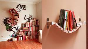 unique bookshelves unique bookshelf designs ideas for small room space saving