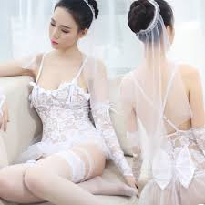 wedding lingeries ms286 white lace wedding costume lace sleepwear