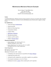 Maintenance Resume Examples How To Make A Resume For A Highschool Graduate With No Experience