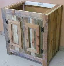 Wooden Bathroom Vanities by Best 25 Reclaimed Wood Bathroom Vanity Ideas On Pinterest