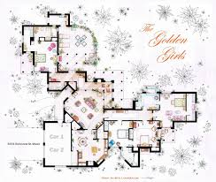 Set Design Floor Plan Floor Plans Of Homes From Famous Tv Shows
