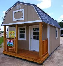 gambrel roof garages 10x20 painted lofted barn cabin w metal roof mom pinterest