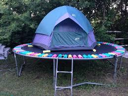 Backyard Campout Ideas 25 Unique Trampoline Tent Ideas On Pinterest Trampoline Park