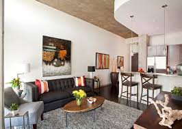 Decorating Ideas For Apartment Living Rooms Fresh Ideas For Studio Apartment Furnished With Cool Layout