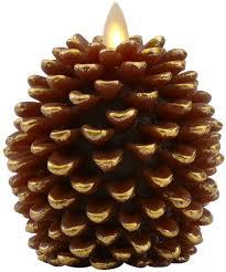 amazon com luminara pine cone candles 3 5 x 4 unscented battery