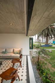 Outdoor Sitting Area Chic Seasonal Beach House In Peru By Romo Arquitectos