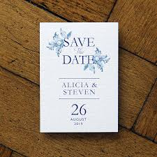 blue china wedding invitations and save the date by feel good
