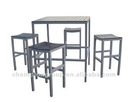 Aluminium Bar Table Outdoor Bar Table Chair With Aluminum Frame And Polywood Table Top