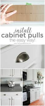 installing cabinets in kitchen install new cabinet pulls the easy way