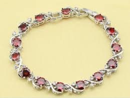 garnet bracelet images January birthstone adjustable garnet bracelet gt gt silver gold png