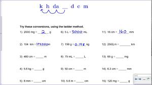 metric mania conversion practice key youtube