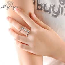 half ring mytys one size 54mm circumference size 7 women half fingers ring 2