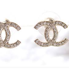 cc earrings chanel earrings cc logo gold luxury accessories on carousell