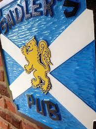 personalize your scottish bar or pub sign custom scottish flag