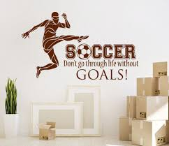 online get cheap boys football bedrooms aliexpress com alibaba wall sticker football soccer quotes decal boys teens bedroom art decor stickers boy sports living room