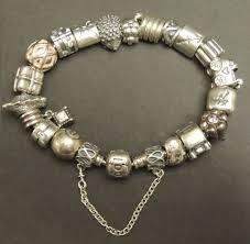 pandora jewelry silver bracelet images Full pandora charm bracelet with 20 charms catawiki jpg
