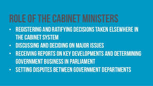 Role Of Cabinet Members Week 6 The Executive