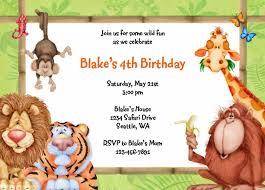 jungle theme invitations free printable invitation design
