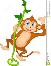 cartoon monkey hanging stock illustration image 66168678