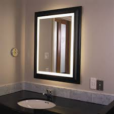 Double Sided Bathroom Mirror by Wall Lighted Bathroom Mirror Essential Lighted Bathroom Mirror