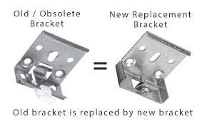 Roman Shade Parts - comfortex symphony pleated cellular shade bracket metal