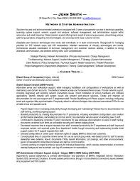 Sample Resume Curriculum Vitae by Plush System Administrator Resume 7 Systems Cv Sample Resume