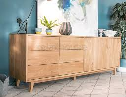 copenhagen solid oak sideboard buffet 220cm by bent design studio