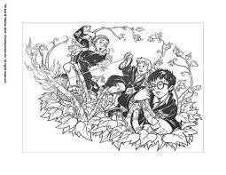 hermione harry coloring pages hellokids