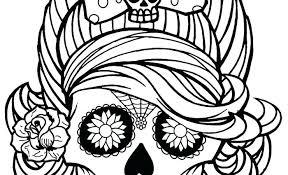 print bad skulls coloring pages best sugar skull images on book