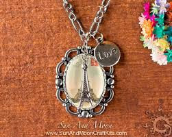 making glass necklace pendants images Eiffel tower theme pendant making kit vintage design setting jpg