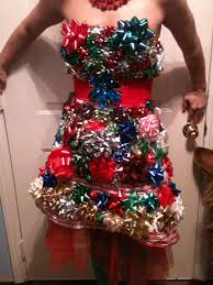 christmas bow dress i made for tacky sweater party style
