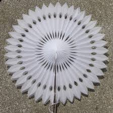 hanging paper fans 40cm cut out paper fans decoration hanging flower fans