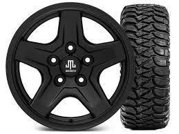 1997 jeep wrangler wheels mammoth wrangler boulder black wheel 16x8 wheel and mickey