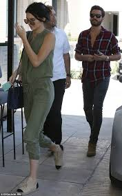 kendall jenner jumpsuit kendall jenner in green jumpsuit with disick on afternoon