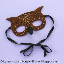 owl mask bugs and fishes by lupin felt owl mask tutorial for