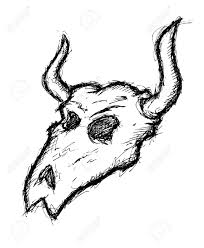 hand drawn buffalo skull royalty free cliparts vectors and stock
